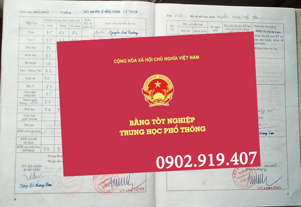 Làm bằng cấp 3 tại Hà Nội
